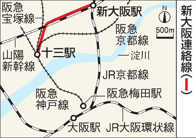 新大阪連絡線の地図