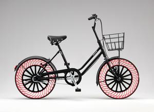パンクしない自転車タイヤ ブリヂストンが開発中