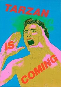 横尾忠則「ターザンがやってくる(緑)」(1974年、作家蔵)