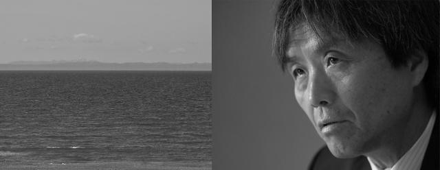 「私たちが帰ってから15年たっている。もう一刻も猶予ならない」。左側は新潟県柏崎市の海岸=角野貴之撮影