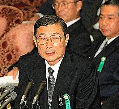 衆院金融安定化特別委員会に出席した大野木克信・日本長期信用銀行頭取(当時)=1998年8月、国会内