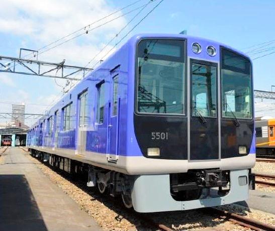 内外装を一新した「5500系」(阪神電鉄提供)