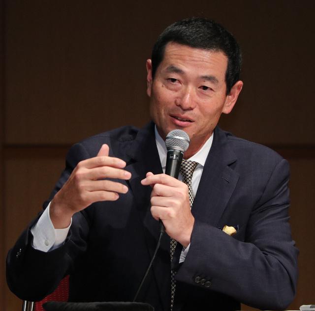 パネルディスカッションで発言する桑田真澄さん=飯塚晋一撮影