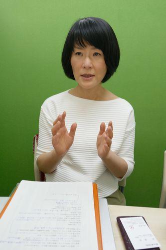 「愛媛がんサポートおれんじの会」理事長の松本陽子さん=松山市