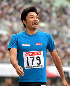 「若い子、速いわ」37歳・末続、9年ぶりの日本選手権