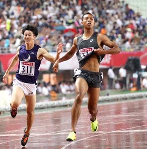 10秒05で優勝 18歳サニブラウン、近づく9秒台