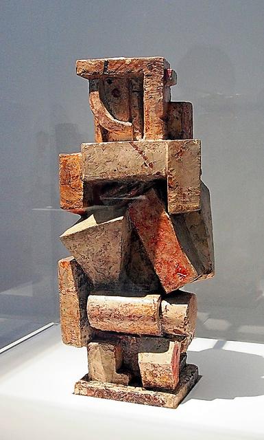 アルベルト・ジャコメッティ「キュビスム的コンポジション――男」(1926年、大原美術館蔵)