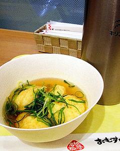 そばだしで食べる明石焼き@JR姫路駅
