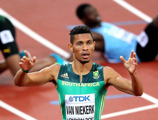 男子400メートルで優勝したファンニーケルク=池田良撮影