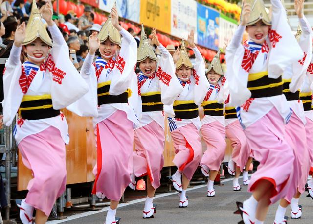 徳島の阿波踊りが開幕 850連、8万5千人が参加:朝日新聞デジタル