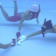 「水底の格闘技」に夢中 水中ホッケー初の高校チーム