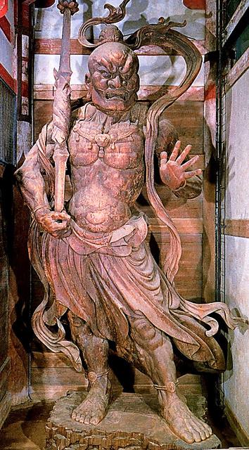 東大寺南大門の金剛力士像・阿形=奈良市の東大寺、朝日新聞社「仁王像大修理」から