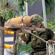 不発弾処理で那覇・国際通り通行止め 2千人超が避難