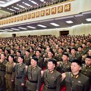 北朝鮮、トランプ氏ののしる集会 ごろつき・老いぼれ…