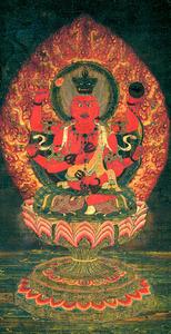 「法勝寺愛染明王像」=重要文化財、根津美術館蔵