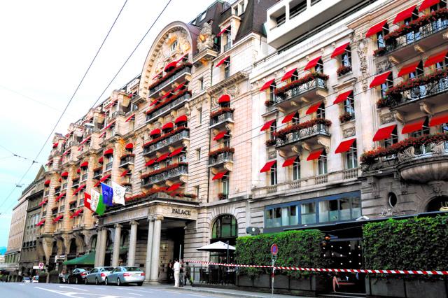 IOC本部があるスイス・ローザンヌの高台に立つ五つ星のパレスホテル。IOC理事会が開催される時の理事たちの定宿だ
