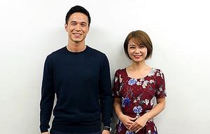 「TOKYO FM WORLD」のパーソナリティー、ケリー隆介(左)とアンジー・リー