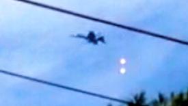 米軍機、住宅地上空でフレア発射か?
