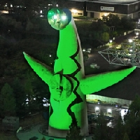 臓器提供に思いを 東京タワーや太陽の塔が緑色に
