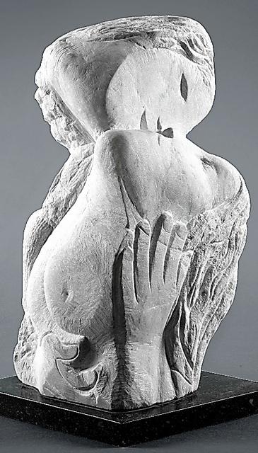マルク・シャガール「ふたつの頭部と手」(1964年、個人蔵)(C)ADAGP,Paris&JASPAR,Tokyo,2017,Chagall(R)E2844