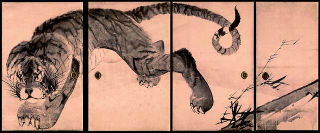 「虎図襖」=無量寺・串本応挙芦雪館蔵(部分) 重要文化財