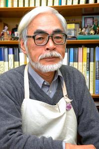宮崎駿監督の新作長編のタイトルを伝える10月29日朝刊の記事にも使われた宮崎駿監督の写真。私が2009年に撮ったものですが、大変再利用回数の多い1枚です