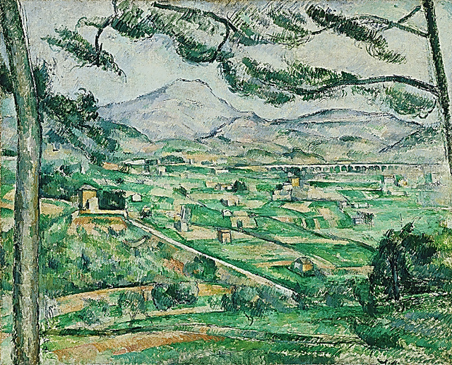 ポール・セザンヌ「サント=ヴィクトワール山」(1886~87年、フィリップス・コレクション、ワシントンD.C.)