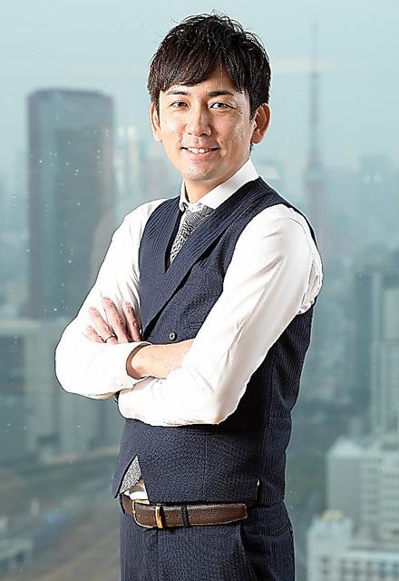 元JリーガーでSOU社長の嵜本晋輔さん=山本和生撮影