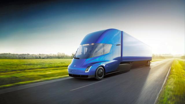 テスラが発表した電気トラック「セミ」(同社提供)