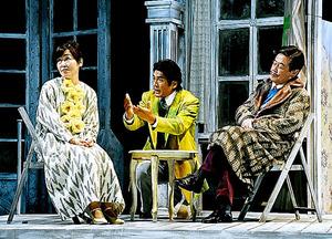 左から小林聡美、高橋克典、風間杜夫=細野晋司氏撮影