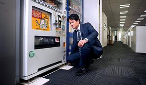 中辻和樹さん 設置した自動販売機、1000台超