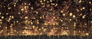 映画「COCOLORS」から、光の舞う回収祭の場面