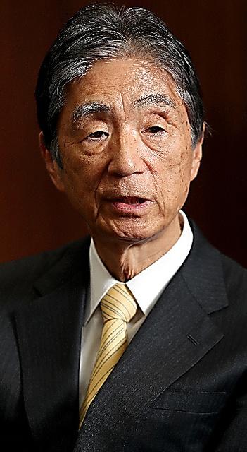 安西祐一郎氏=遠藤啓生撮影