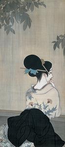 「五月雨」(16年、福富太郎コレクション資料室蔵)