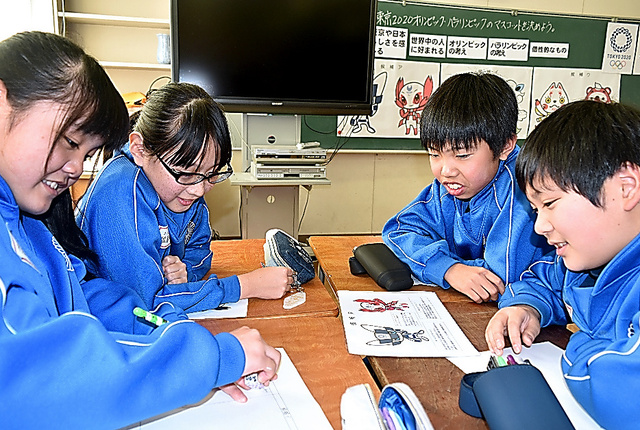 今月11日、福島市立吉井田小ではマスコットを選ぶ特別授業が行われた