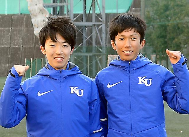 神奈川大は1区の山藤篤司(左)、2区の鈴木健吾で引き離す作戦だ