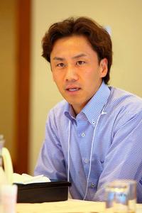 会議で発言をする丹野智文さん(本人提供)