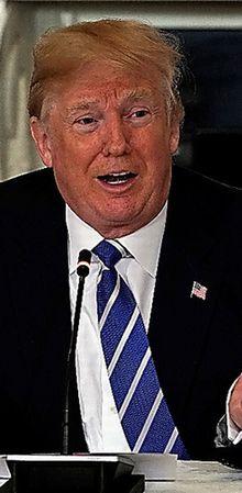インフラ関連の会合で話すトランプ大統領=12日、ロイター