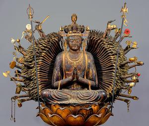 「千手観音菩薩坐像」=葛井寺蔵(国宝)