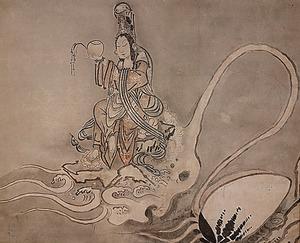 白隠慧鶴「蛤蜊観音図」(禅叢寺蔵)