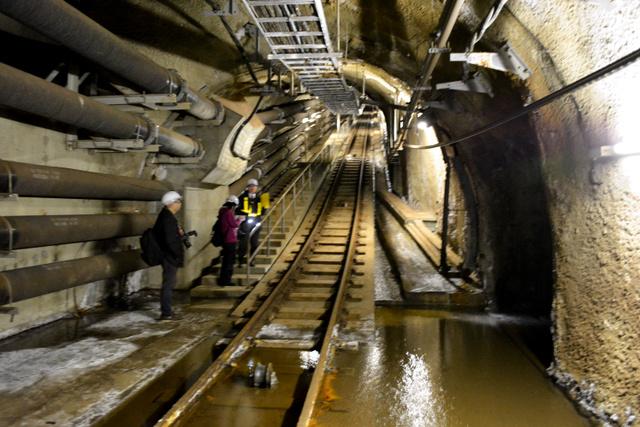 最深部の換気などの役割を担う「先進導坑」の入り口=6日午後、青函トンネル、阿部浩明撮影