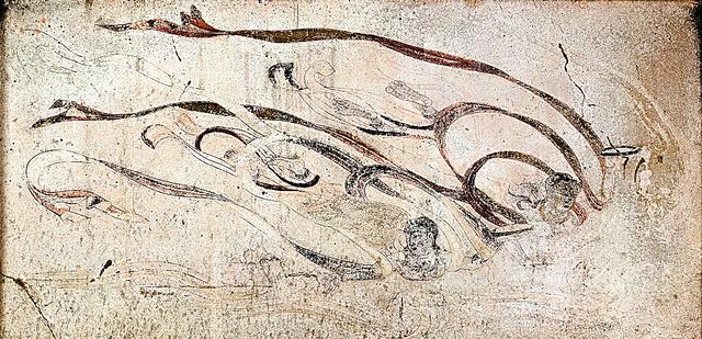 「飛天図」=法隆寺提供、奈良文化財研究所撮影