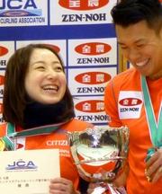藤沢・山口ペアV カーリング・混合ダブルス日本選手権