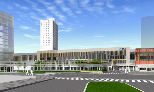 福井市が推薦する福井駅舎のデザイン=鉄道・運輸機構、福井市提供