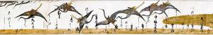 「鶴下絵三十六歌仙和歌巻」=京都国立博物館蔵(部分、重要文化財)