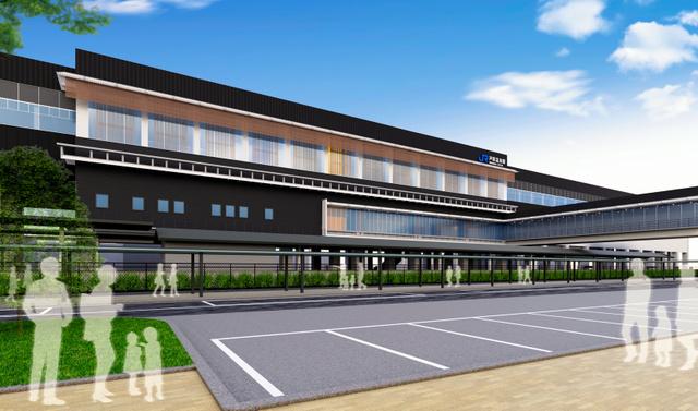 あわら市が推薦する芦原温泉駅のデザイン案=鉄道・運輸機構提供
