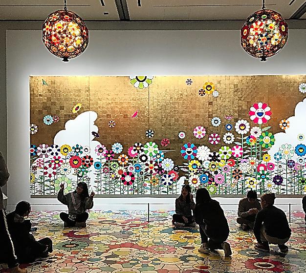 村上隆「かわいい夏休み(黄金の王国の夏休み)」(2008年)(C)Takashi Murakami/Kaikai Kiki Co.,Ltd.All Rights Reserved.