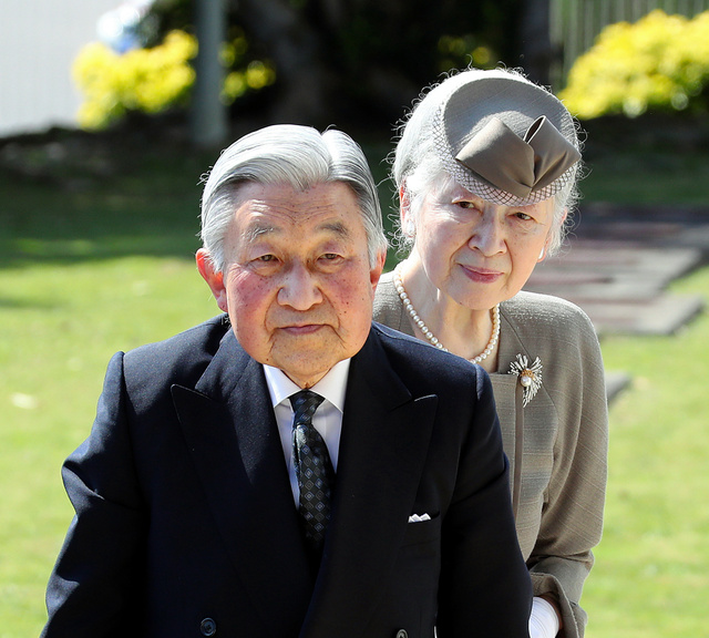沖縄平和祈念堂に到着した天皇、皇后両陛下=27日午後2時40分、沖縄県糸満市、堀英治撮影