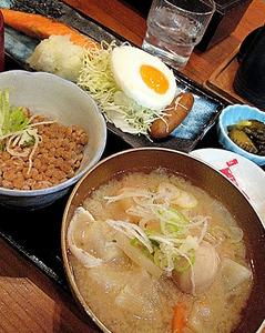 朝の和定食@JR品川駅