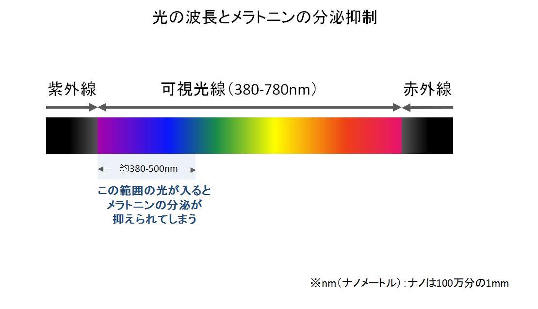 光の波長とメラトニンの分泌